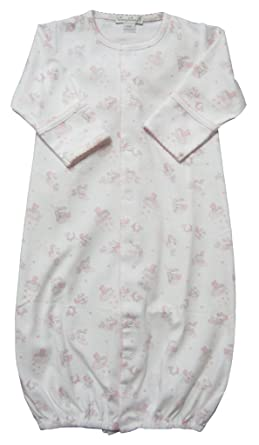 47c63ba011a Amazon.com  Kissy Kissy Baby-Girls Infant Little Super Star Print  Convertible Gown-White with Pink-Newborn  Clothing