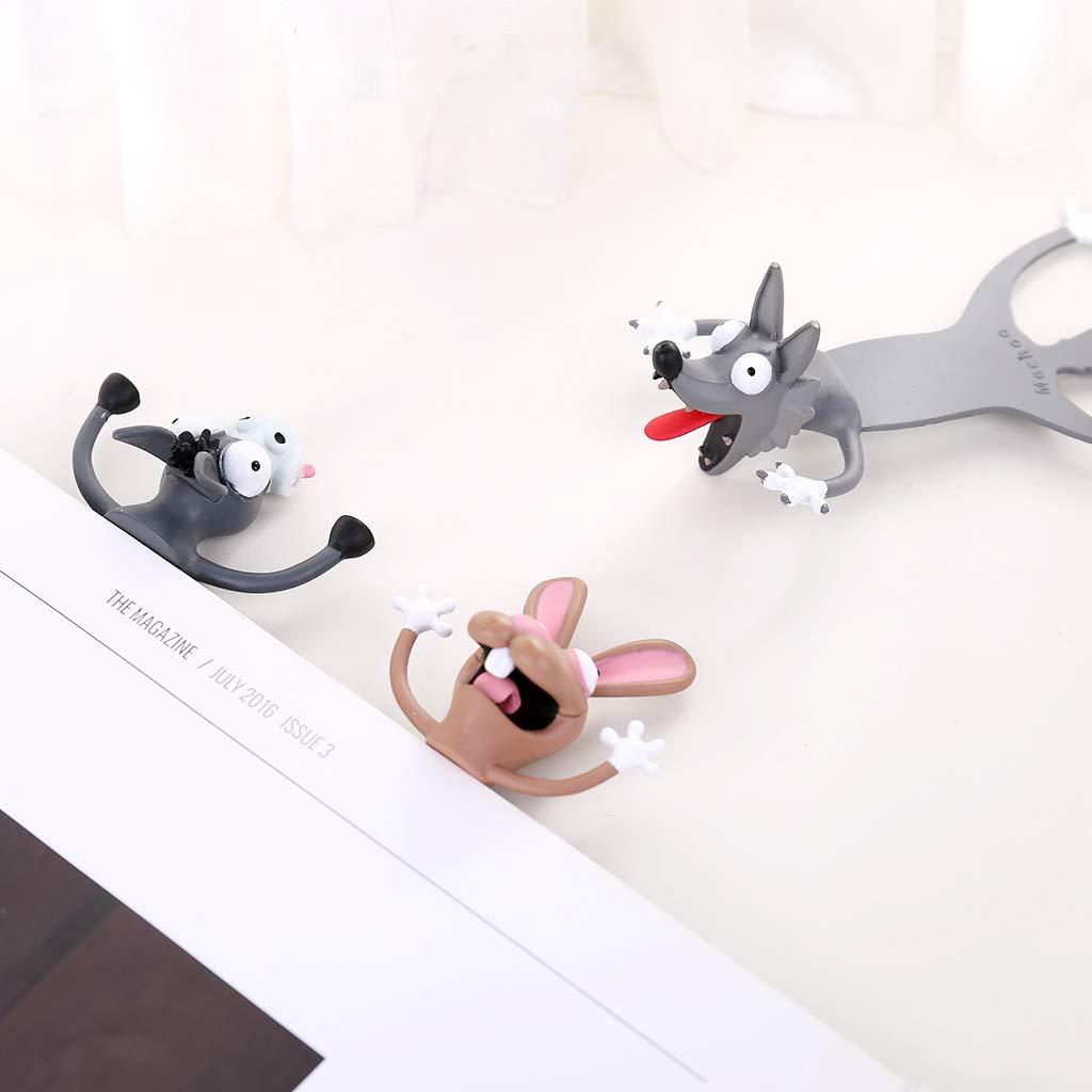 ONE Marcap/áginas 3D con dise/ño de gato y conejo B FangWWW