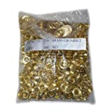"ALEKO® 500pc Sheet Metal Grommet And Neck Washer Brass #1 (5/16"")"