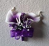 Purple Ivory White Calla Lily Bridal Wedding