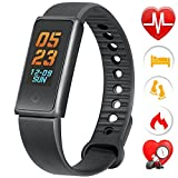Fitness Tracker - ALODUKI AL116 Color OLED Heart Rate Monitor Tracker Smart Bracelet Activity Tracker Bluetooth Pedometer with Sleep Monitor Smartwatch for Android and IOS Smartphones