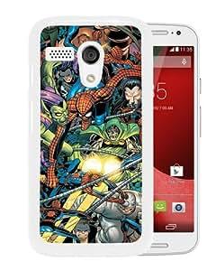 Unique And Popular Motorola Moto G Case ,Spider Man Foes White Motorola Moto G Screen Cover Beautiful Designed