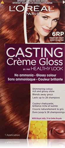 (L'Oreal Healthy Look Creme Gloss Hair Color, 6RR Intense Light Auburn)