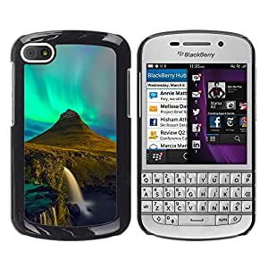 LauStart ( Aurora Borealis Cascada ) BlackBerry Q10 Arte & dise?o pl¨¢stico duro Fundas Cover Cubre Hard Case Cover para