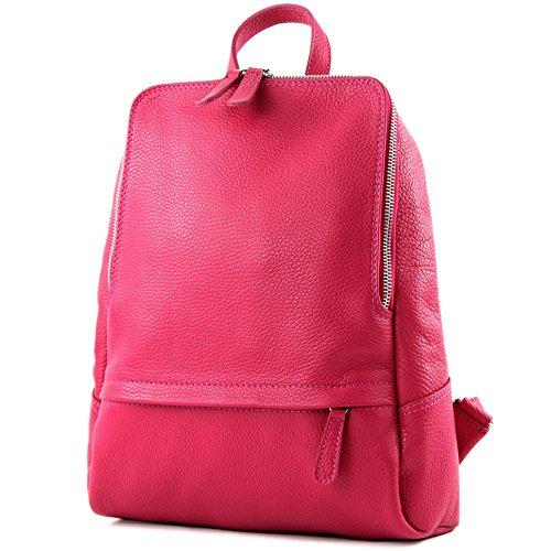 T138 De In Ital Pelle Pink Borsa Donna Zaino Citybag Modamoda S8x4pdwq8