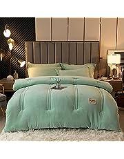 TIUTIU Winterdekbed - verdikking warm fluweel quilt, 100% microvezel katoen vulling dekbed kern voor volwassenen tieners warm cadeau verdikt bed deken
