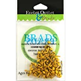 EYELET OUTLET Round Brads (70 Pack), 4mm, Yellow