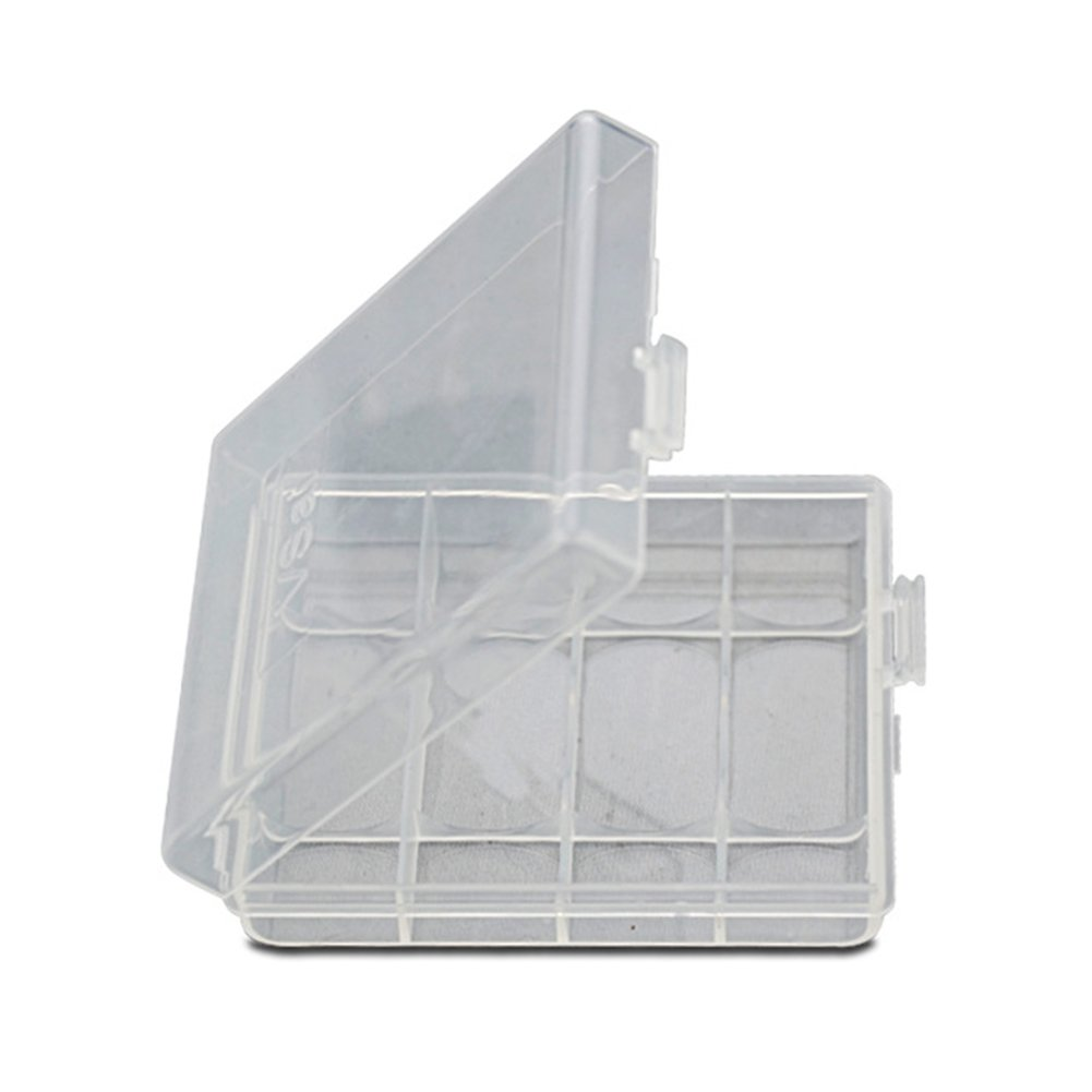 INLAR Battery Storage Box Battery Storage Case Battery Holder Clear Suitable for 4 x AA/AAA batteries Waterproof Protective Case(White)