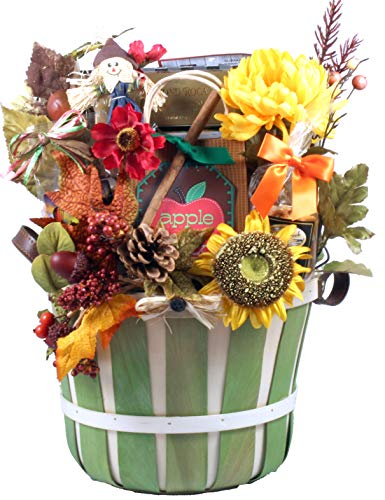 Gift Basket Village - A Taste of Autumn Gift Basket, Large Fall Gift Basket Loded with Fall Treats -