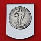 US 1938 Walking Liberty Half Dollar Stainess Steel Large Money Clip NEW - Wide Design