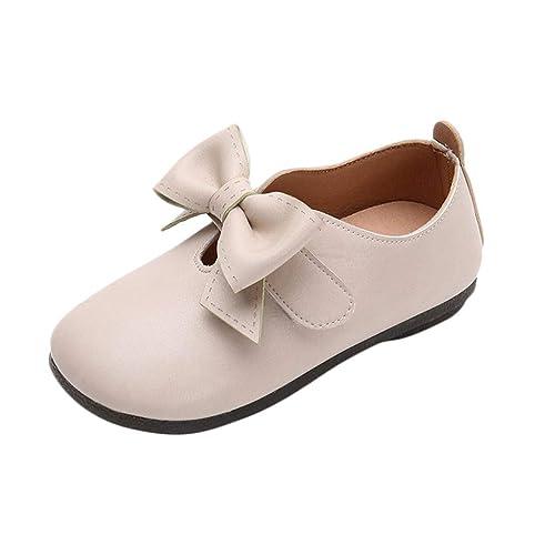 be680dad64 Mitlfuny Niños Zapatos de Cuero Primavera Verano Arco Fiesta Princesa Zapato  para bebé Niñas Antideslizantes Suela