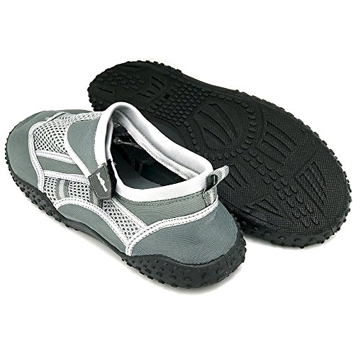 Just Pool Fun Hiking Sailing Mens Sand Shoes Socks Tall Travel Big Speed Beach Grey Aqua Boating Water Dark 4PHq4r7