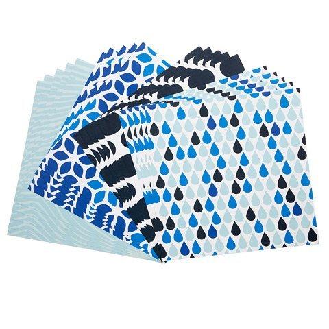 (Blue Prints Patterned Cardstock Paper 12x12 - 20 Sheets)
