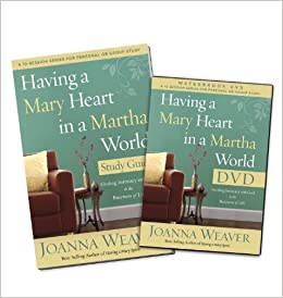 Having a mary heart in a martha world dvd study pack finding having a mary heart in a martha world dvd study pack finding intimacy with god in the busyness of life joanna weaver 9780307731593 amazon books fandeluxe Document