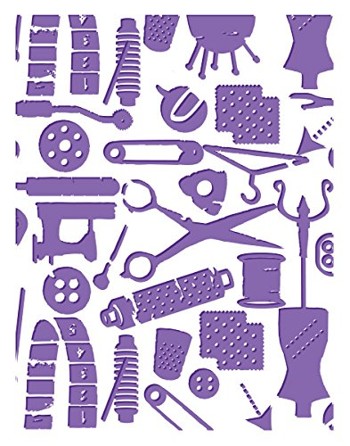 Couture Creations A2 Embossing Folder, Sew Sew Sew-Who What Wear by Couture Creations