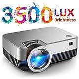 """VIVIMAGE C480 Mini proyector, Full HD 1080P compatible y visualización de 170"""", proyector de vídeo portátil 2800 Lux con 40.000 horas de vida de lámpara LED, compatible con TV Stick, PS4, HDMI, VGA, TF, AV y USB"""
