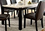Furniture of America Minna Contemporary Genuine Marble Dining Table For Sale