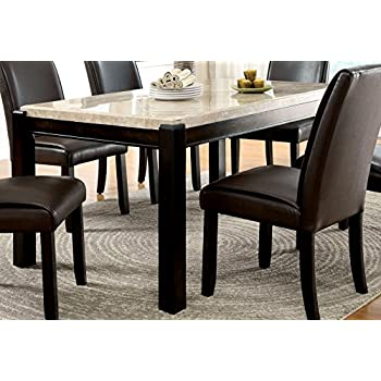 Delightful Furniture Of America Minna Contemporary Genuine Marble Dining Table