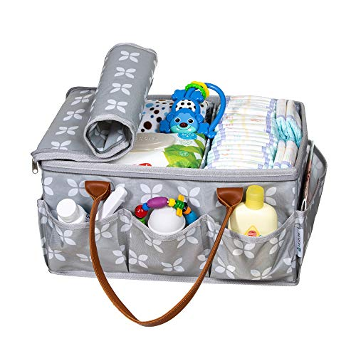 66d134fffcac Moteph Extra Large Diaper Caddy Organizer with Zip-Top Cover with 2 Extra  Items - Waterproof Wet/Dry Bag - Velour Baby Wipe Cloth - Perfect for Baby  ...