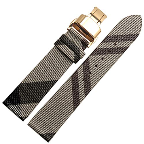 Choco&Man US Calfskin Leather Watch Band Suitable for Men's Burberry - Watch Gold Iwc