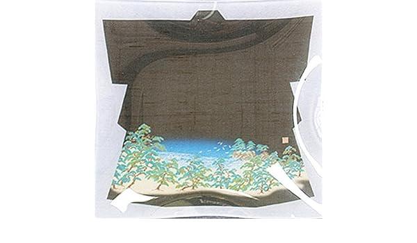 Japonés Yuzen plato de vidrio de cristal textiles kagayuzen Matsu hecho a mano en Japón: Amazon.es: Hogar