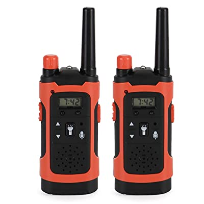 Coxeer 2PCS Walkie Talkie Creative Long Range Talkabout Radio Interphone Toy for Kids Fun Toys: Toys & Games