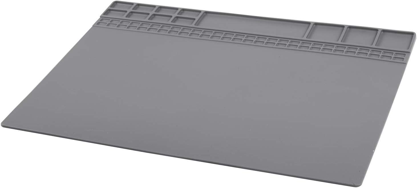 ROSELI Insulation Pad Heat Resistant Soldering Station Silicon Soldering Mat Work Pad Desk Platform Soldering Repair Station