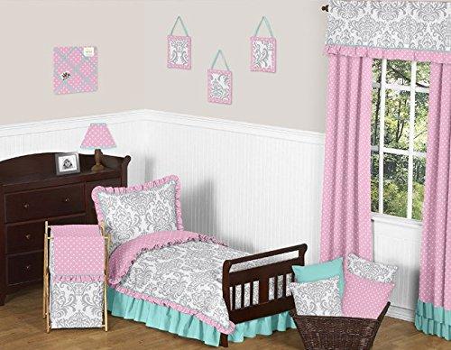 Sweet Jojo Designs Baby/Kids Clothes Laundry Hamper for Skylar Gray Damask and Pink Polka Dot Girls Bedding by Sweet Jojo Designs (Image #2)