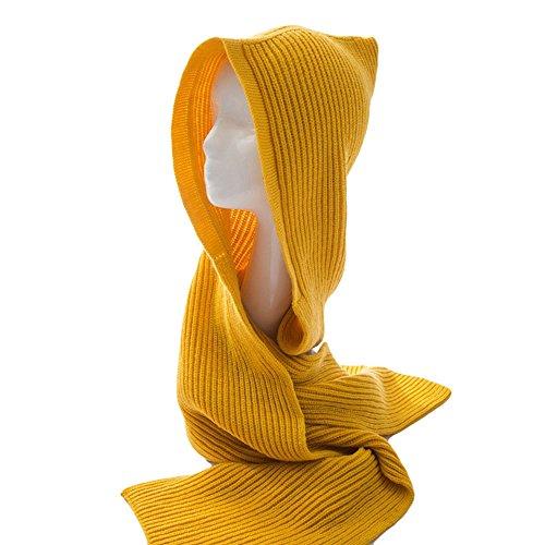Mural Art Adult Women Winter Knit Hoodie Scarf Hat Pullover Headscarf Hoodie Hat Neck Warmer (Art Knit)