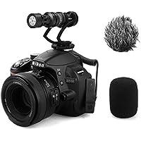 Comica CVM-VM10II Full Metal MINI compact on-camera Cardioid Directional Shotgun Video Microphone with Shock-Mount for Smart phone(Black)