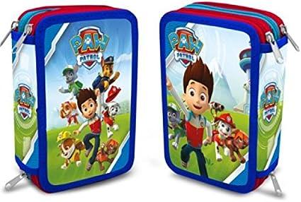Paw Patrol – Estuche escolar Triple con accesorios pat patrulla: Amazon.es: Oficina y papelería