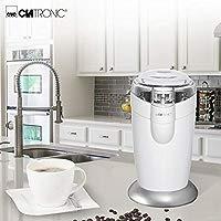 Clatronic KSW 3306 Molinillo eléctrico, Especias, Semillas o Granos, Capacidad 40gr 20 Tazas de café, Cuchillas Acero Inoxidable, tamaño Compacto, 120 ...