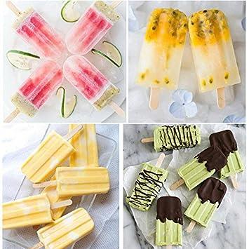 25CM rose 25 tofree Popsicle Form 10/F/ächer Frozen Popsicle Joghurt Backform mit 12/Sticks 30