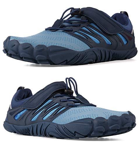 WHITIN Men's Cross-Trainer   Barefoot & Minimalist Shoe   Zero Drop   Wide Toe Box   Five Fingers   Gym Fitness Workout Trail Running   Male Blue   Size 9
