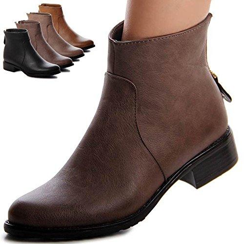 topschuhe24 - Botas para mujer, color marrón, talla 40 EU