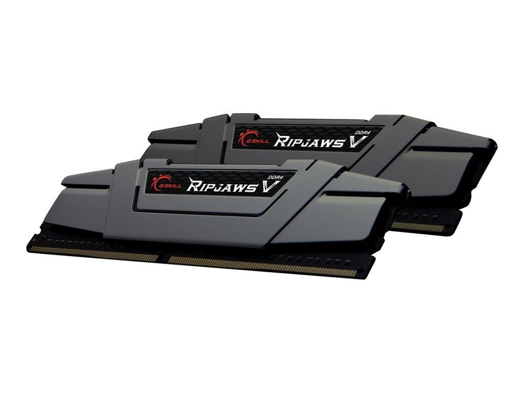 Gskill F4-3200C16D-16GVGB Memory D4 3200 16GB C16 RipV K2 2X 8GB, 1,35V, RipjawsV grau G.Skill 202700