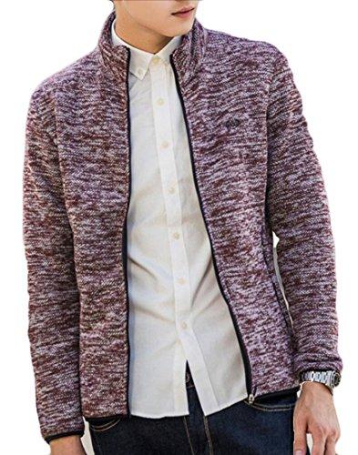 Generico Fino Collare Outwear Manica Mens Autunno Lunga Basamento Zip Del 3 4Fq7OEx