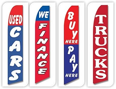 Used Cars Flag Windless Swooper 4 Lot Auto Finance Buy Here Pay Here Trucks Red by FlagPad