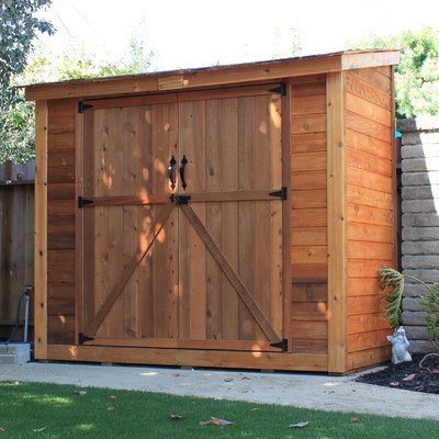 Space saver wood lean-to shed.