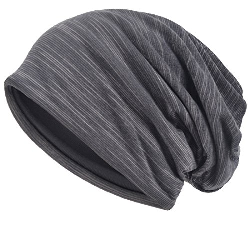 VECRY Men Slouch Hollow Beanie Thin Summer Cap skullcap (Grey) Slouch Hat Cap