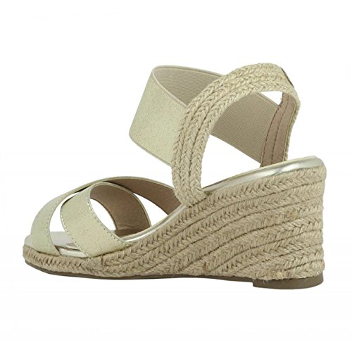 Zapatos de cuña de Mujer REFRESH 61778 ELAST ORO