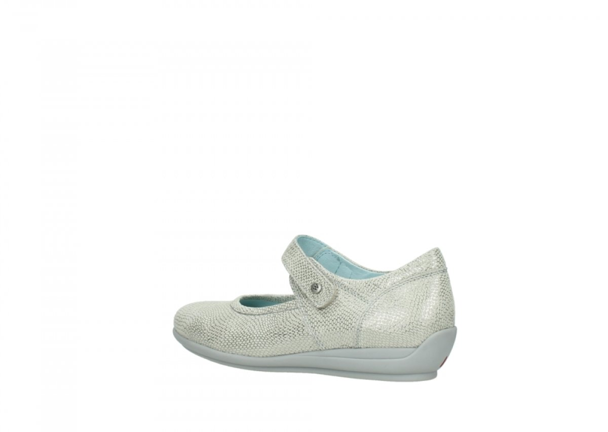 Wolky Comfort 36 Mary Janes Noble B01MS7KK5N 36 Comfort EU|20120 Off White/Silver Printed Leather f49617