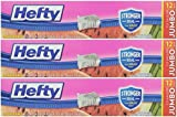 Hefty Slider 2.5 Gallon Jumbo Storage Bags, 12 Count (Pack of 3) 36 Bags Total