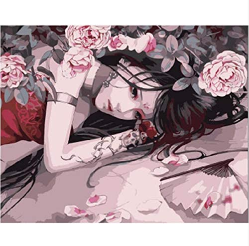 KWELJW Home Beauty 40x50cm Drawing Picture Paint on Canvas DIY digital Oil Painting by Numbers Home Decoration Craft Gifts E166