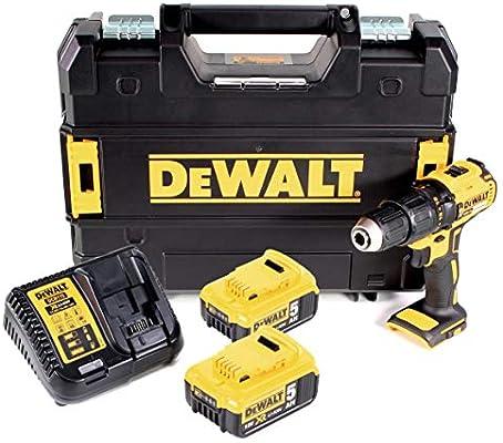 DeWalt DCD 778 P2T - Taladro atornillador inalámbrico (18 V, 65 Nm, incluye 2 baterías de 5 Ah, cargador en caja TSTAK): Amazon.es: Bricolaje y herramientas