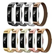 AIUNIT Fitbit Alta Bands Milanese,Fitbit Alta HR Replacement Band Small Large for Women Men Girls Boys, Loop and Magnet-Lock Design Metal Accessories Wristband Strap