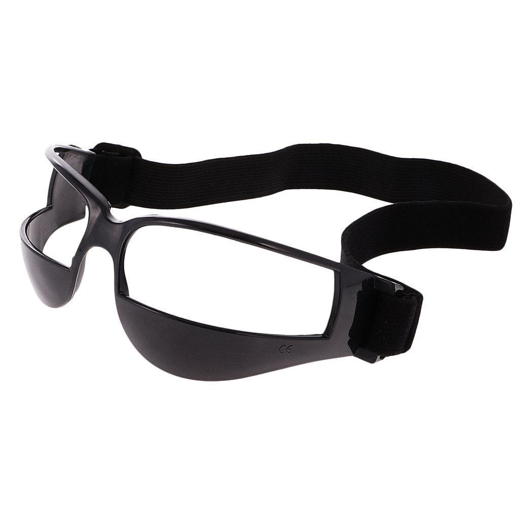 MagiDeal ProfessionalバスケットボールGlasses Dribble Dribbling Specs Anti DownゴーグルバスケットボールトレーニングAid、ホワイトまたはブラック B06XJ3VN5P Black (1 Pack)