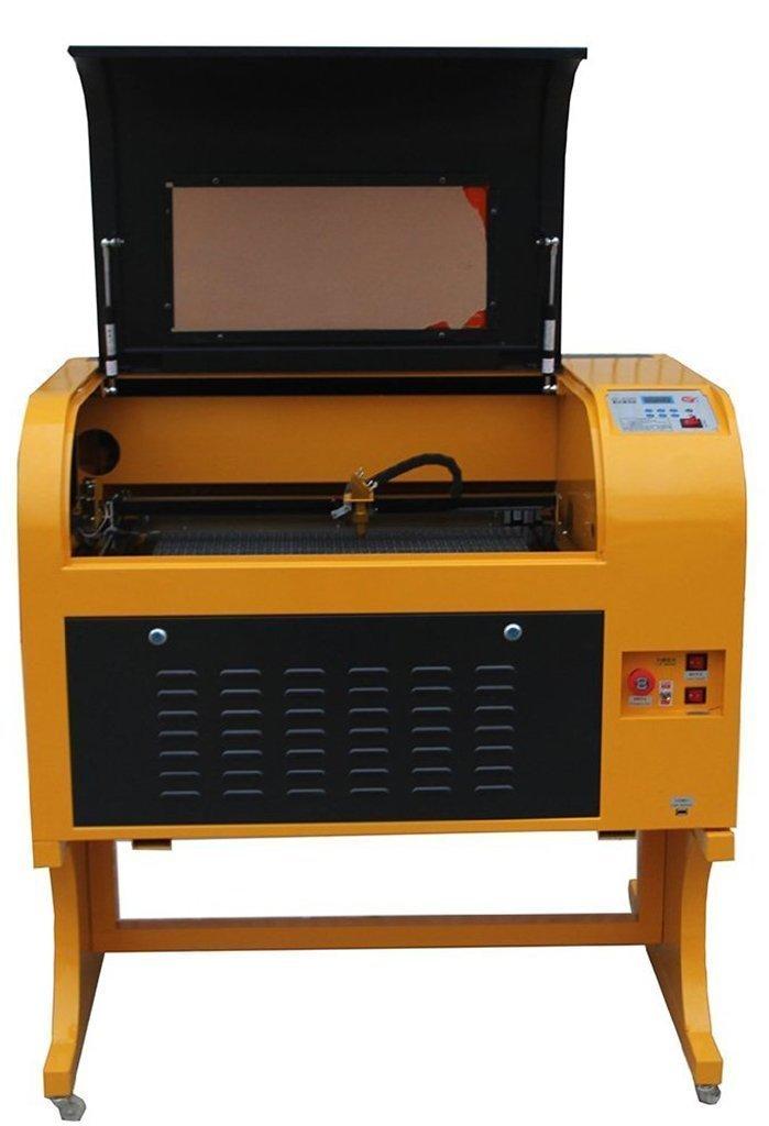 テンハイTEN-HIGH CO2 レーザー彫刻機切断機 DIY加工機 400mm*600mm 50W 110V 電動昇降付き USBポート付き ローラ回転軸 必要な付属品一式フルセット  50W+回転軸 B0754XS3D5
