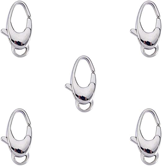 Lobster Clasps Oval Clasps Basic Jewelry Making Findings 8 Pieces