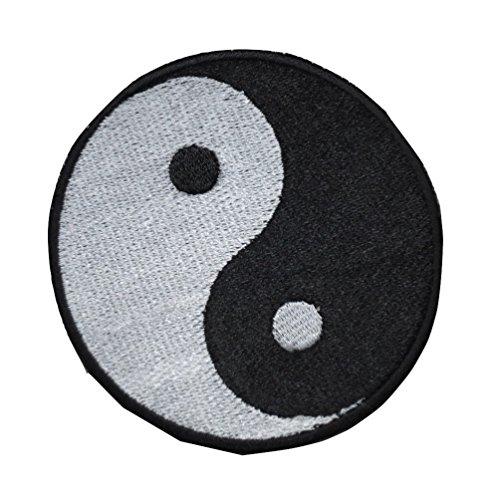 - TrendyLuz Yin Yang Taoism Duality Balance Embroidered Hook & Loop Patch